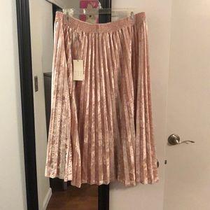 Dresses & Skirts - Pink velvet skirt.